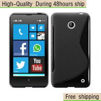 High Quality Wave S Line TPU Gel Case Cover For Nokia Lumia 630 Free Shipping UPS EMS DHL HKPAM CPAM fjk-3