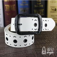 Korean version of ms fashion joker hollow out belt, leisure trend explosive belt, factory direct sale, free shipping