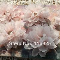 Light Pink Lotus 3d Chiffon Yarn Fabric Flower Handmade Three-dimensional Flower Headband Hair Accessory Corsage Diy Accessories
