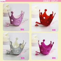 Free shipping stereoscopic crown girl's hair pin.beautiful hairpin 2pcs/lot 40218