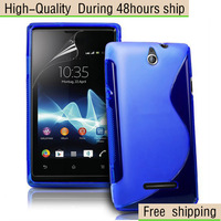 High Quality Wave S Line TPU Gel Case Cover For Sony Xperia E C1605 C1505 Free Shipping UPS EMS DHL HKPAM CPAM dhu-1
