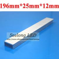NEW free shipping 4pcs/Lot Long 196 mm high Power LED Heatsink Radiator 8w LED Cylinder Lamp Radiator Aluminum