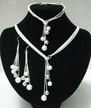 925 Jewelry Sets - S100 / Aliexpress Hot , Frosted / Smooth Bracelets & Bangle ...