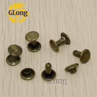 100pcs 8*4mm Round Double Cap Rivet Stud Collision Nail Metal Spike Rock Leathercraft Shoe Bag Belt Garment Bracelet #GZ015-8BR