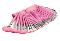 48 pcs/Bag Pro pink Make Up Makeup Brush Set Cosmetic Makeup Brushes Kit With Bag H1053E Fshow