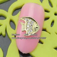 RH1150 wholesale alloy nail art metal sticker 30pcs/lot nail art gold zircon glittler tip nail art supplies free shipping