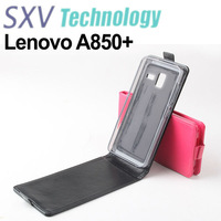 Flip Leather Case for Lenovo A850+ MTK6592 Octa Core Phone, Free Shipping, 3 Color, A850+ Protective Case