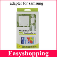MHL to VGA Audio Adapter MHL Micro USB to HDMI HDTV Adapter for samsung galaxy s4 s3 note 3 note 21pcs freeshipping  3270