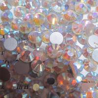 SS4(1.5mm) 1440pcs New Fashion Non Hot Fix AB Crystal Flatback Glitter Rhinestones 3D Nail Art Charm Decorations Nail Tools DIY