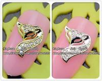 RH1224/1225 wholesale alloy nail art metal sticker 30pcs/lot  nail art gold zircon glittler tip nail art supplies free shipping
