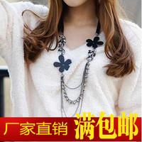Accessories all-match elegantlife multi-layer vintage flower design long necklace female necklace