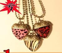 Accessories fashion accessories leopard print love vintage necklace