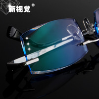 2014 Limited Brand Oculos Men Diamond Myopia Glasses Finished Product Titanium Eyeglasses Frame Male Rimless Ultra-light Picture