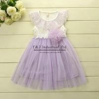 2014 Korea Style Lace Girl Dress Chiffon Soft Girls Dresses Summer Beach Clothes Ball Party Dress Free Shipping