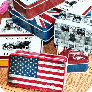 Tin box Small gift box home decoration storage bin metal case tins bins cans(China (Mainland))