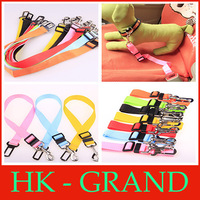 multi colors Strong pet/Dog Car Travel Seat Belt Clip Lead Restraint Harness Auto traction leads+free shipping