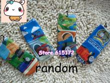 5pair Children Kids Accessories Cotton Cartoon Cat Animal Print Short Kawaii Cute Blue Thomas Train Socks For Boys Girl Child(China (Mainland))