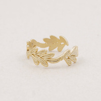 $10 free shipping 2014 fashion engagement leaf ring jewelry gift silver or 18k gold women mens
