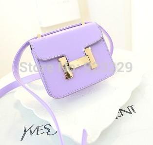 2014 new mini single shoulder bag fashion handbags Korean candy color cross packet(China (Mainland))