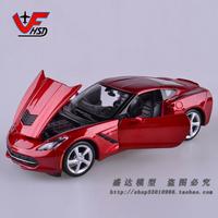 Maisto 1:24 Scale 2014 Corvette Stingray Coupe Red Alloy Car Model