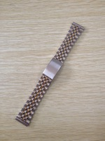 10pcs Stainless Steel Watchband 20MM B-7G Watch Band Strap with Golden color