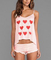 Hot~New 2014 Fashion Summer Girl Sexy Cute Heart shape Sling Vest +  Purfle pants Sets Pyjamas Home Clothes Suit Pajamas Lounge
