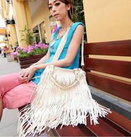 2014 Free Shipping Discounts Vintage Tassel Embellished PU Women's One Shoulder Tote Bag Handbag