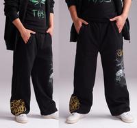 New 2014 Male Sport Pants Men Casual Pants Hip Hop Skateboard Pants Cotton Loose Sweatpants Plus Size Free Shipping