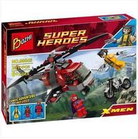 avengers wolverine Logan Minifigure Super Hero DIY Building Block doll x-men  magneto Bozhi 98046 Compatible With Lego T07