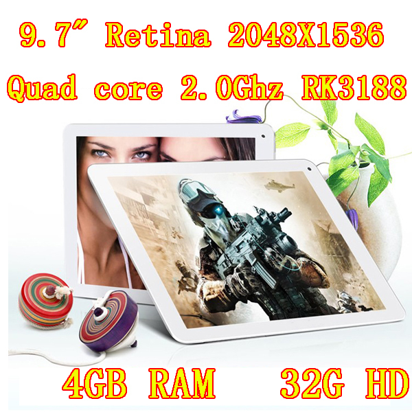 Samsung 2.0 GHz quad core tablet pc 9,7 pollici schermo ips androide retina 2048x1536 4.4 ddr4gb hd32gb fotocamera 8.0mp hdmi pc 7 8 9 10