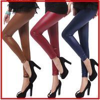 hot sell fashion legging couro leather leggings flat panel mid waist riding pants girl ankle calca discoteca drop shipping