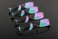 half rim men extra light metal alloy glasses frame prescription eyewear optical myopia frame business men new arrival 3153