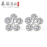 Accessories fashion anti-allergic chokecherry 925 pure silver earrings stud earring female