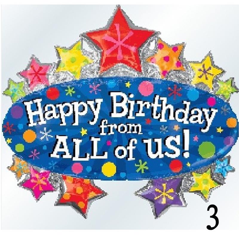 Happy Birthday Balloons Free Shipping Birthday Party Decoration Balloons 71cm 19cm Big Happy