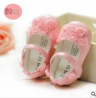 Hot!!2 Colors & 5 sizes 11.5-13.5cm 2014 Summer PU Leather Flower Girls Children Kids Shoes Sandals Sneakers first walkers