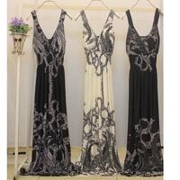 Vestido Sexy Longo Casual New 2014 Trench Kawaii Osklen Black Plus Size Long Maxi Dresses xxxl