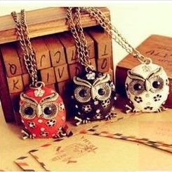 Fashion RetroStyle Vintage Lovely Exquisite owl necklace chain necklace  Free shipping BC1305 BC1307