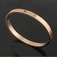 rose/gold/silver 3  colors titanium steel G bangles