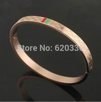 rose/gold/silver 3  colors titanium steel G bangles