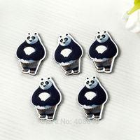 Free shipping very popular flat resin Surface printing cartoon Kung Fu Panda DIY decorative accessories MOQ 200pcs size:26*18mm