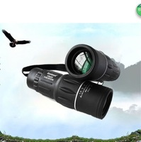 Promotion! 16x52 Monocular Telescope 16x Zoom 66M/8000M Hunting Birding Camping Green Film Dual Focus Free Shipping