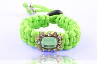 New 2014 Fashion Handmade statement bracelet shourouk Wristband , Shourouk Style square Crystal Wristband for Women