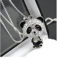 fashion women cute panda pendant necklace Free Shipping ! 2N274