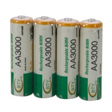 8pcs/lot Pieces Original BTY 3000mAh AA Rechargeable NI-MH Batteries + AA/AAA Battery Box(White) Free Shipping(China (Mainland))