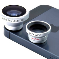 Magnetic 3 in 1 lens 0.67xWide Angle Macro 180 Fish Eye lens camera Kit Set for Apple iPhone 4 5 new 2014 mobile phone