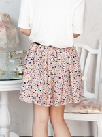 Women 2014 new pleated skirt high waist Small Dots print skirts Lovely small size Free Shipping EAST KNITTING SW--043