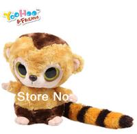 "3pcs/lot Small-best Gift Yoohoo Friends Stuffed Plush toy,Racoon-5"" Roddee,Fabrics animal toy,Home Textile big eyes cut gift Toy"