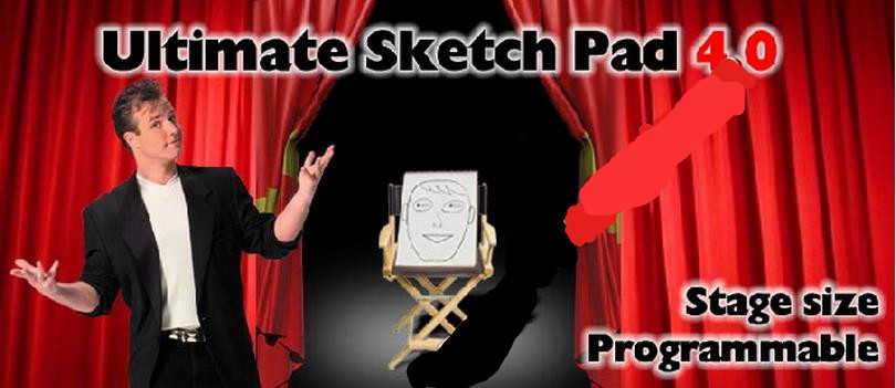 Free Shipping! Ultimate Sketch Pad 4.0(Stage size programmable)-Trick,close up magic,mentalism,stage magic props,comedy(China (Mainland))
