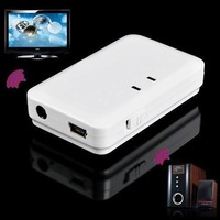2014 Mini Portable White 3.5mm Audio Stereo Hifi Bluetooth Transmitter Receiver Adapter for TV,MP3,MP4,DVD and support A2DP