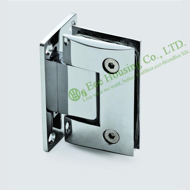 Glass clips,Stainless Steel Wall-mount Shower Door Hinge,Bathroom Glass Door hinge,Mirror finished glass door holder/ connector(China (Mainland))